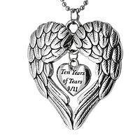 Remembering our Fallen Heroes - September 11th Commemorative Angel Wings Necklace