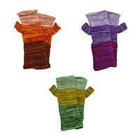 Hues of Warmth - Alpaca Wool Fingerless Multicolor Fair Trade Mittens