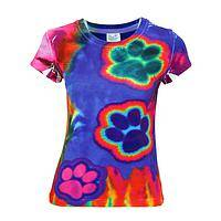 Groovy Paws  - Electric Paws Tie-Dye Tee