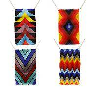 Bright and Trendy - Geometric Handmade Fair-Trade Beaded Pendant Necklace