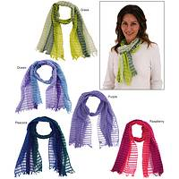 Woven With Light - Artisan-Crafted Airy Open-Weave Scarf