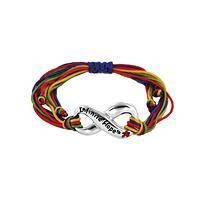 Colorful Threads of Hope -  Infinite Hope Autism Awareness Cord Bracelet
