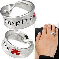 Simple Truth - Ring Inscribed Inspire and Featuring a Puzzle Piece