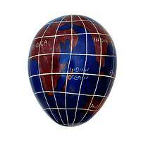 The World in Your Hand - Handcrafted Stone Kenyan World Map Egg