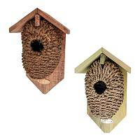 There's No Place Like... - Natural Nesting Pocket-Style Wood & Fiber Birdhouse