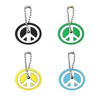 Peace is the Way - Peace Sign Colorful PVC Key Covers (Set of 4)