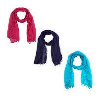 Fiesta Flair - Handmade India Cotton Pom Pom Scarf Wrap