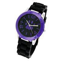 Terrific Time - Black & Purple Silicone Watch Exclusive Purple Paw Design