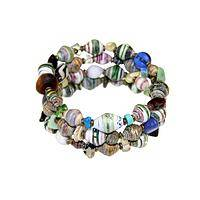 Rediscovered Africa - Recycled Elements Handmade Bracelet in Cotton Gift Pouch
