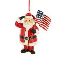 St. Nick's Stars & Stripes - Saluting Santa Patriotic Christmas Ornament