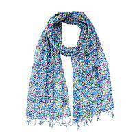 Watercolor Frenzy - Handmade Screen Printed Colorful Palette Cotton Wrap Scarf