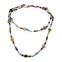 Going To Great Lengths - Recycled Magazine Necklace from Uganda