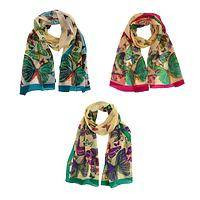 Airy Fantasy - Flock of Butterflies Handmade Silk Scarf