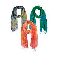 Bright Promise - Silk Scarf Dyed With Stunning Variegated Colors