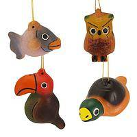 The Wild Things - Hand-Painted Artisan Wooden Animal Ornaments