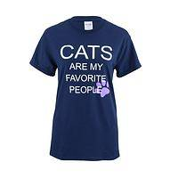 Cats Are My Favorite People T-Shirt