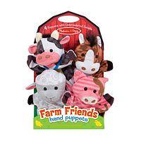 Sweet Barnyard Buddies - Farm Friends Plush Animal Hand Puppets (Set of 4)