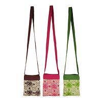 Swing Through My Garden Bag - 100% Cotton Printed Sling in Three Colors