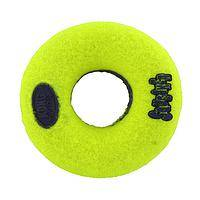 Tennis Ball! No, a Donut! Toy - Air KONG Squeaker Tennis Ball Donut Dog Toy