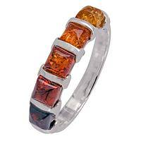 Magical Energy - Sterling Ring With Gradient Amber Gemstones