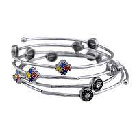 Universe of Autism - Autism Awareness Puzzle Piece Wrap Bracelet