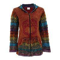 Bold Steps - Earthtone Embroidered Paw Print Hooded Jacket