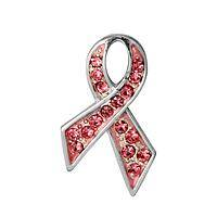Classic Courage - Courage & Hope Classic Crystal Pink Ribbon Pin