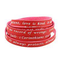 Eternal Love - Wrap Bracelet Inscribed With Love Verses From Corinthians