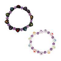 Paws Galore Hearts - Cuzco Hand Painted Beaded Stretch Bracelet