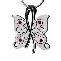 Hope Whispers - Butterfly Diabetes Support & Awareness Crystal Necklace