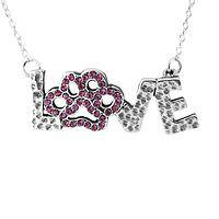 Love's Treasure - The Treasure of an Animal's Heart Sterling & Crystal Pendant