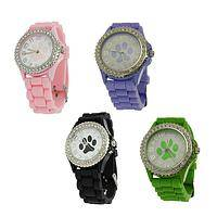 Paws the Time - Paw Print Animal Rescue Supporter Silicone Watch