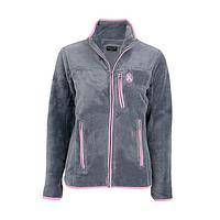 Hopeful Heart - Pink Ribbon Emblazoned Plush Fleece Jacket