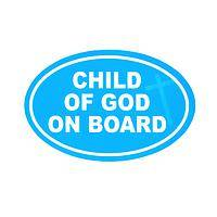 Keep Him With You - God is Love Heart-Themed Pastel Car Magnet
