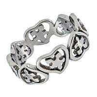 Pledge of Love - Autism Awareness Hearts & Puzzle Pieces Stainless Steel Band