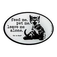 The Cat Says... - Leave Me Alone Funny Cat Vinyl Car Magnet