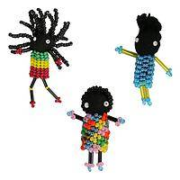 Little Traveler - HIV Support Handmade Beaded Doll Pin