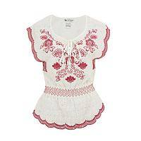 Spring Morning - Light & Fun Embroidered Eyelet Top