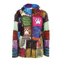 Paw Patchwork Hoodie - A Paw Printed Patchwork Hoodie Style Jacket