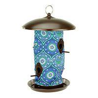 Stars and Paws Bird Feeder - Blue and White Flourished Paws Garden Bird Feeder