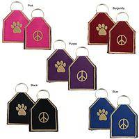 Peaceful Playmate - Embroidered Pet Tag Silencer