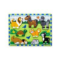 The Animals We Love - Hefty Wooden Pets 8-Pc Chunky Puzzle For Ages 2 & Up