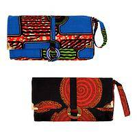 Wrapped in Vibrance - Rwandan Handmade Women's Rights Fabric Wristlet Wallet