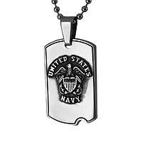 U.S. Navy Prayer Dog Tag  - St. Michael Protect Us Navy Dog Tag Necklace