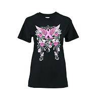 Wings of Hope - Dramatic Winged Pink Ribbon T-Shirt