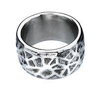Etched in Time - Textured Geometric Pewter Metal Ring