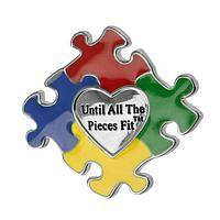 Hearts-A-Puzzle Pin - Autism Awareness Pin