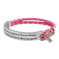 What Cancer Cannot Do - Pink Ribbon Breast Cancer Supportive Sentiment Bracelet