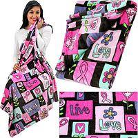 SuperCozy™ Pink Ribbon Love Blanket