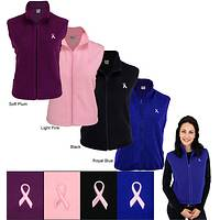 Women's Pink Ribbon Fleece Vest